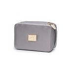 jane iredale Deluxe Mirrored Cosmetic Bag Graphite